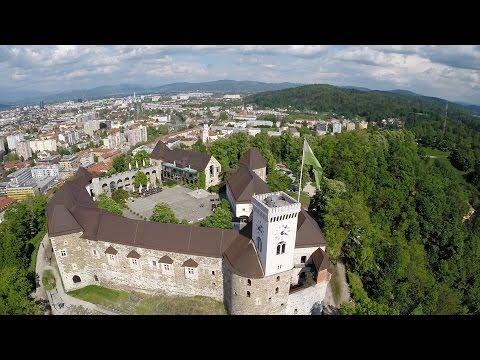 Ljubljana Castle - Aerial Video