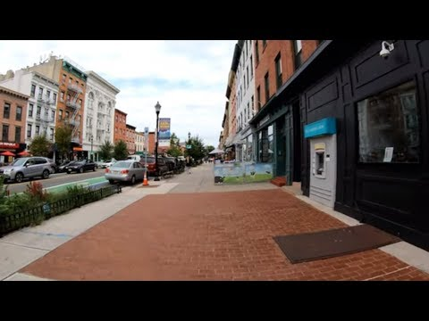 ⁴ᴷ⁶⁰ Walking Hoboken, NJ (Narrated) : Washington Street, Pier A, Transit Terminal, Elysian Park