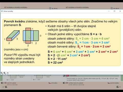 Povrch kvádru, Geometrie pro 5.roč., str. 53, cv. 1 úvod