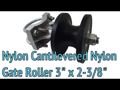 """nylon-cantilevered-nylon-gate-roller-3""""-x-2-3/8"""""""