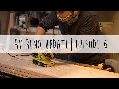 RV Reno Update | Episode 6 | RV Flooring, Building Countertops, Fitting Out the Loft & More