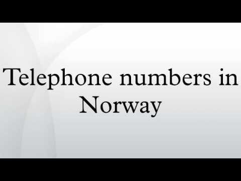Telephone numbers in Norway