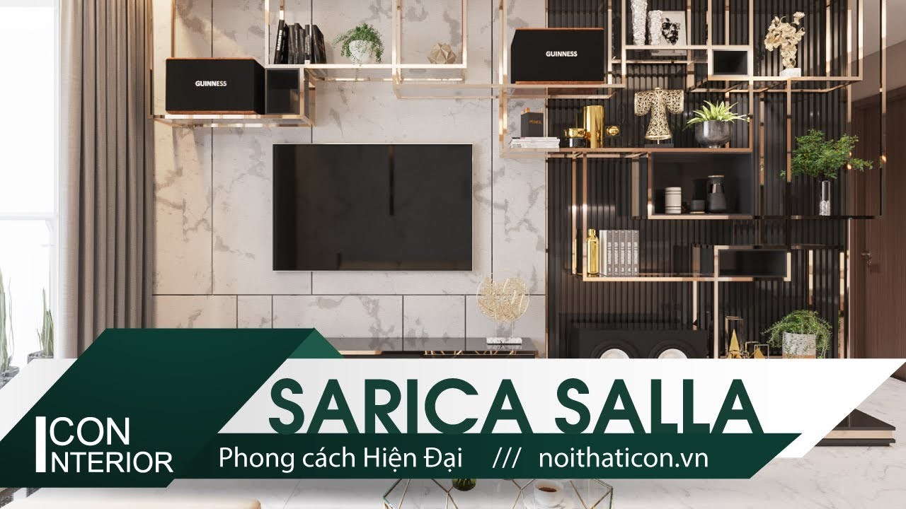Căn hộ Sarica cao cấp khu đô thi Sala: Thiết kế nội thất mạ Titan phong cách hiện đại
