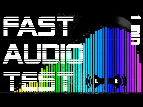 1-Minute Audio Test for Stereo Speakers & Headphones