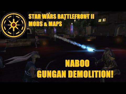 Star Wars Battlefront 2 Mods & Maps: Naboo - Gungans (DEV'S SIDE MOD) HD