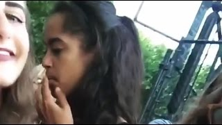 Malia Obama Caught Smoking Marijuana