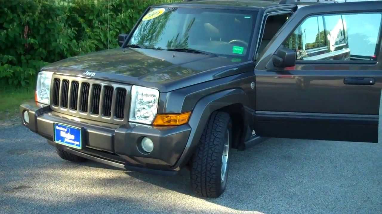 best priced used 2006 jeep commander 8704 southern maine motors saco maine car dealers youtube. Black Bedroom Furniture Sets. Home Design Ideas