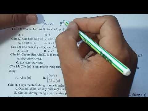 Giải đề thi học kì 2 toán 11   đề thi chuẩn 2021