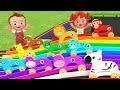 Learn Animals Names for Children Little Baby Boy & Girl Play Wooden Animals Slider Toy Set 3D Kids