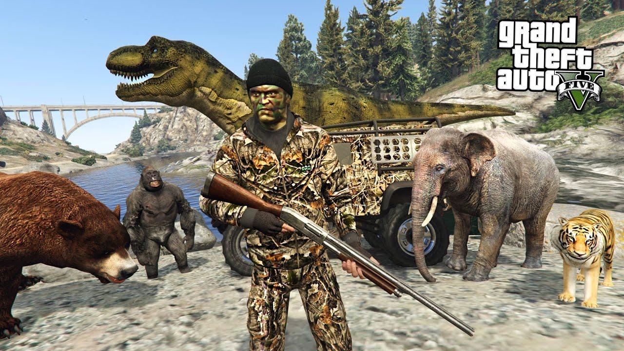 HUNTING RARE & EXOTIC ANIMALS!! (GTA 5 Mods) - YouTube