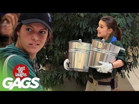 Strongest Girl in the World Prank - Just For Laughs Gags