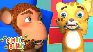 Песенка про игру в прятки - Peek A Boo Song | Funny Bunny - детские песенки и мультики часть 2