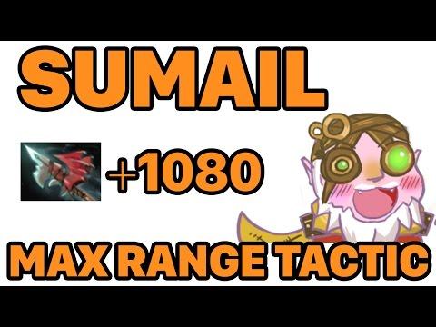 Dota 2 Sumail Sniper Max Range Tactic with Hurricane Pike