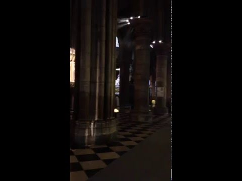 Notre Dame Cathedral in Paris Interiors with Kyrie Eleison 2015