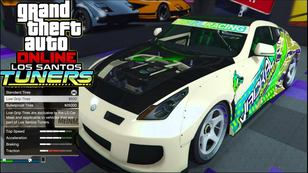 GTA 5 Online Tuners - Annis Euros 370z Low Grip Tire Build! Fast & Furious Train Move!!
