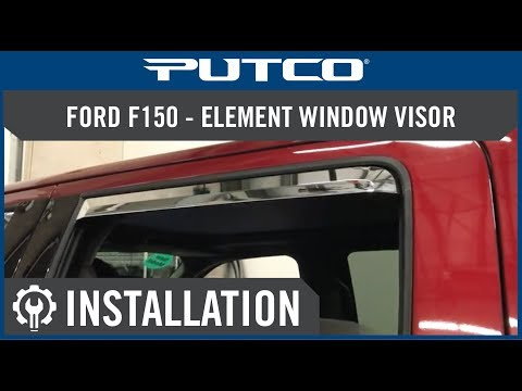 Window Visor Install For Ford F150 And Super Duty Youtube