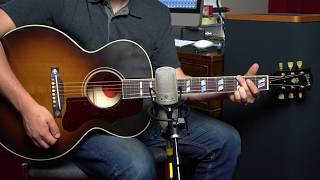 Gibson J-185 Vintage (2019) Acoustic Guitar Demo: Small Jumbo Legend, Remade