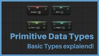 Primitive Data Types inside of the Unreal Editor.