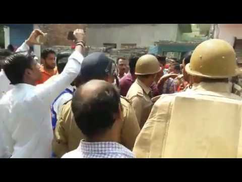 BJP workers angry on police in ambedkar shobha yatra after communal violence in saharanpur
