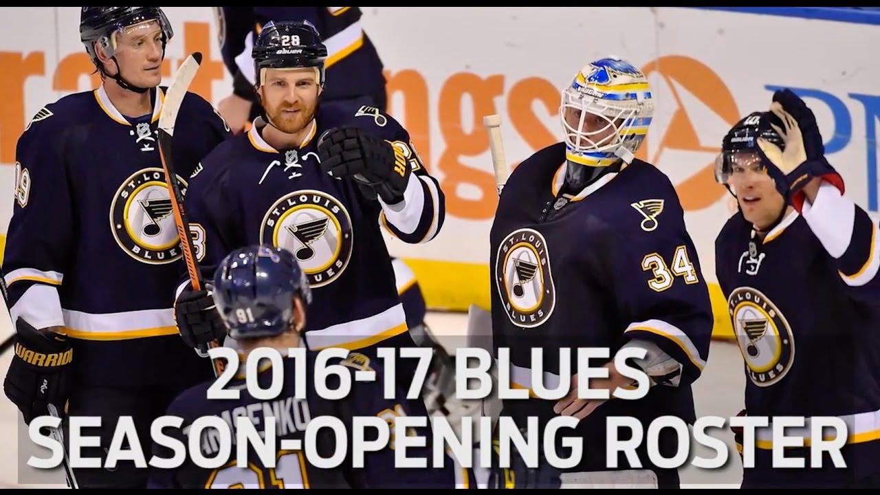 2016 17 St Louis Blues Season Opening Roster