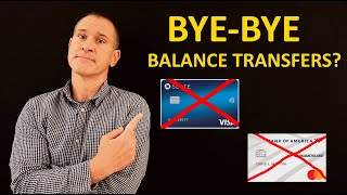0% Credit Card Balance Transfers Disappearing! Chase, Bank of America, Capital One Pull Offers