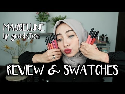 MAYBELLINE LIP GRADATION REVIEW & SWATCHES EASY OMBRÉ TUTORIAL | FATHI NRM