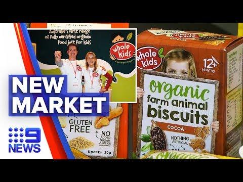 Australia's organic food producer has Asia market in their sights | Nine News Australia