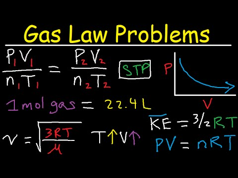 Gas Law Problems Combined & Ideal - Density, Molar Mass, Mole Fraction, Partial Pressure, Effusion