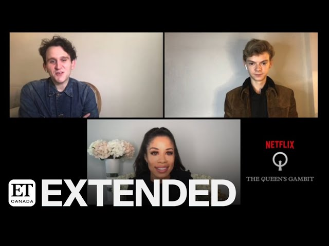 harry melling and thomas brodie sangster talk the queen s gambit extended youtube thomas brodie sangster talk