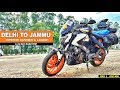 Delhi to ladakh and kashmir | Day 1 | Delhi to Jammu | Dominar 400 | Bajaj Dominar | Himalayan |