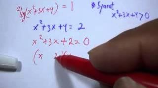 Konsep dan Rumus Cepat Matematika SMA Logaritma - persamaan kuadrat