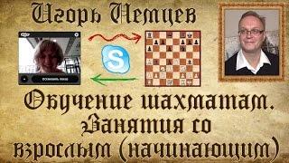 Индивидуальное занятие со взрослым (начинающим). Обучение шахматам. Игорь Немцев