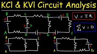 Kirchhoff's Law, Junction & Loop Rule, Ohm's Law - KCl & KVl Circuit Analysis - Physics