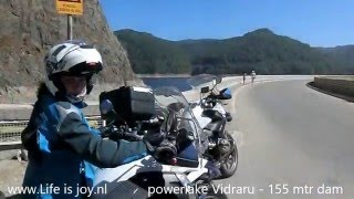 Transfagarasan highway Romania on BMW R1200GS Topgear World best driving road Carpathian mountains L
