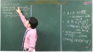 Bài tập đại số 10 - Bất đẳng thức - Bất phương trình - Bài tập nâng cao tìm GTLN và GTNN