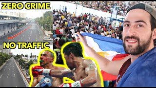 """Pacquiao VS Thurman"" Major ROADS Become GHOST TOWN During PACQUIAO Fights! 🇵🇭"