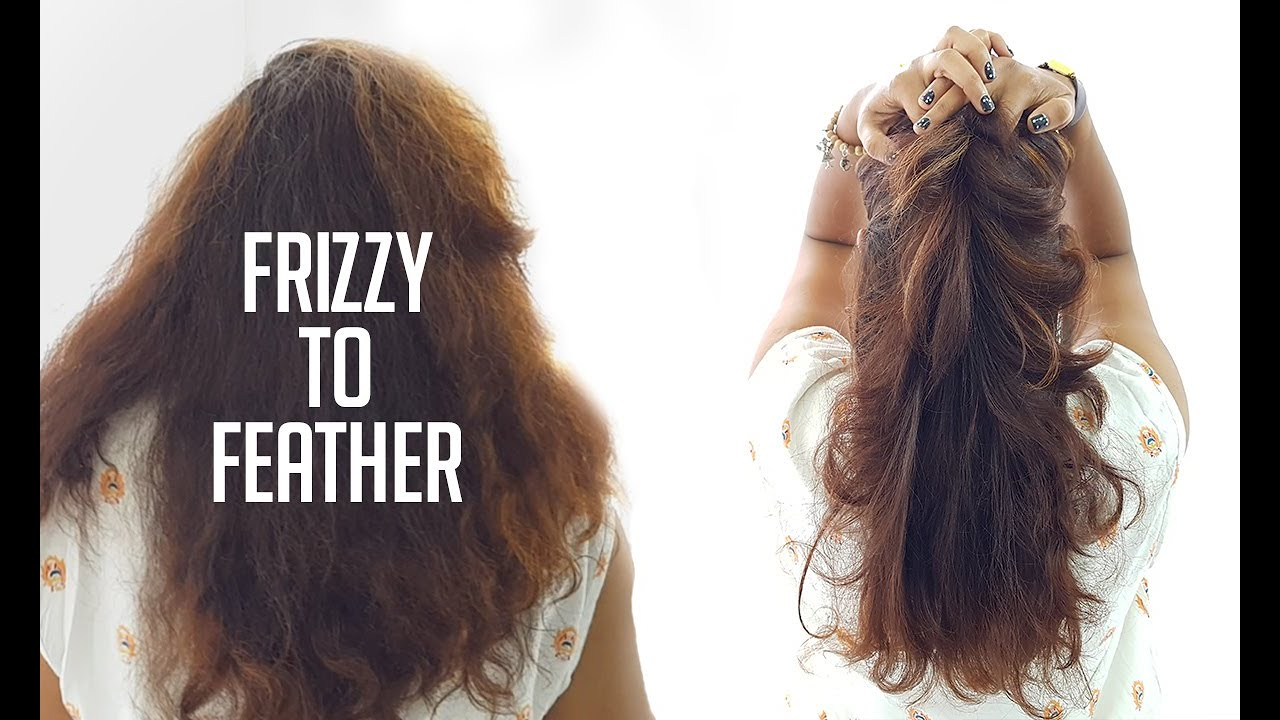 Frizzy hair to Feather Haircut