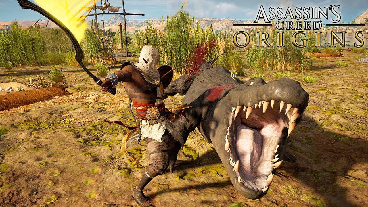 Assassins Creed Origins Thick Skin Hunting Side Quest Gameplay