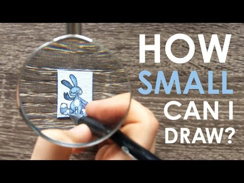 TEENY WEENY CHALLENGE - How Small Can I Draw?!