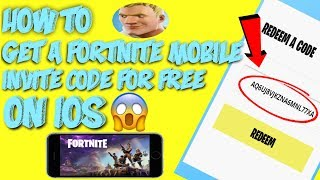 HOW TO GET A FORTNITE MOBILE INVITE CODE FOR FREE ON iOS!