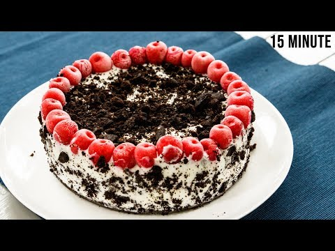 15 मिनट में ब्लैक फारेस्ट केक – black forest cake recipes without oven no bake – cookingshooking