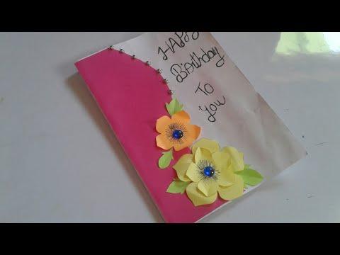 Beautiful handmade birthday card for husband / diy greeting card for husband