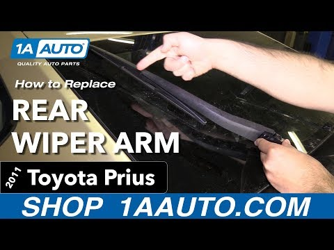 How to Replace Install Rear Wiper Arm 11 Toyota Prius