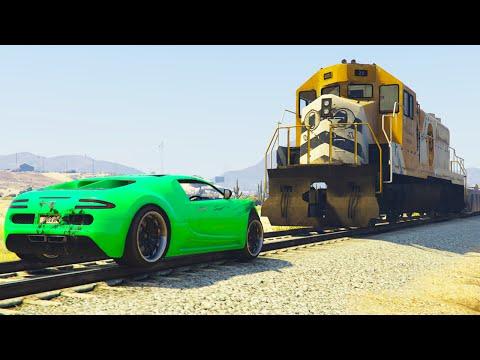 RACE THE TRAIN! (GTA 5 Funny Moments)