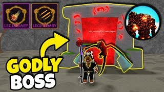 *NEW* MAGMA GOLEM BOSS DEFEATED! ALL LEGENDARY SPELLS! GODLY DRAGON PET! (Roblox Wizard Simulator)