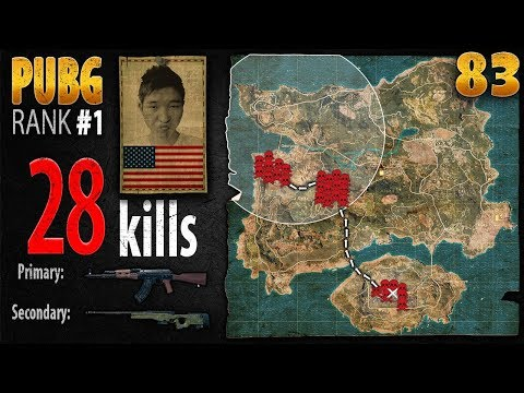 PUBG Rank 1 - Menthol_TV 28 kills DUO - PLAYERUNKNOWN'S BATTLEGROUNDS #83