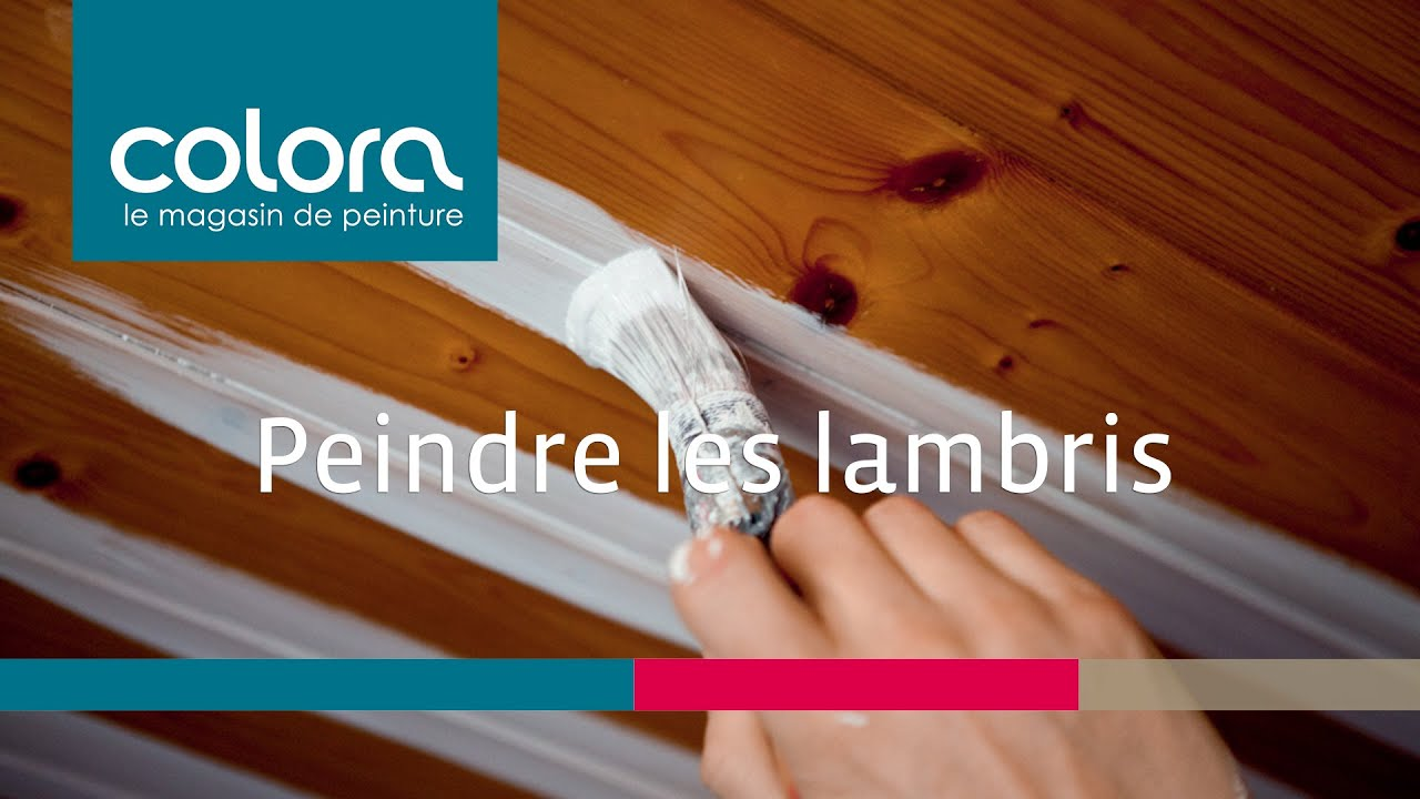 Peindre des lambris comment faire youtube - Lambris pvc de couleur ...