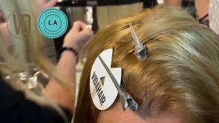 Demonstrando a aplicação do Trimmer technology VIDA HAIR no curso presencial - por Luciana Alvarez