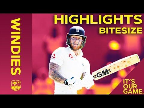 Windies vs England 3rd Test Day 2 2019   Bitesize Highlights