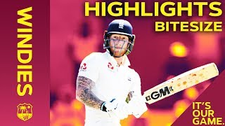 Windies vs England 3rd Test Day 2 2019 | Bitesize Highlights